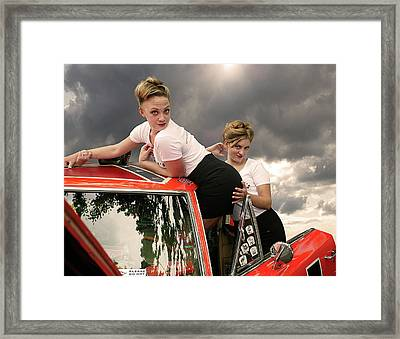 Omg - She Really Didn't Do That Framed Print by Jeff Burgess