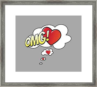 Omg In Love Framed Print by Marianna Mills
