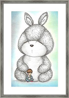 Ominous Bunny Framed Print by Summer Porter