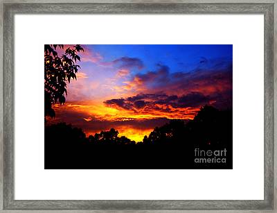 Ominous Sunset Framed Print by Clayton Bruster
