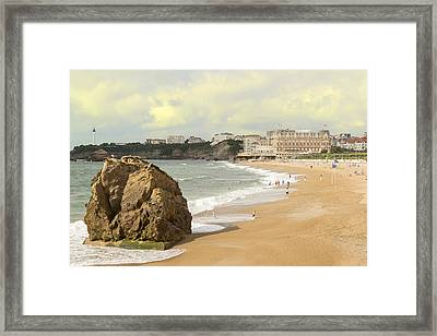 On A Hot Summer Day On A Sandy Beach Framed Print by George Westermak