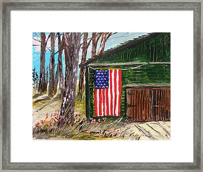 On A Veteran's Barn Framed Print by John Williams