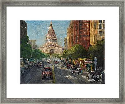 On Congress Framed Print by Lisa  Spencer