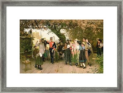 On Leave Framed Print by Wilhelm Zimmer