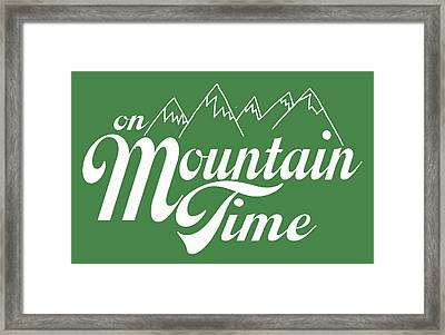 On Mountain Time Framed Print by Heather Applegate