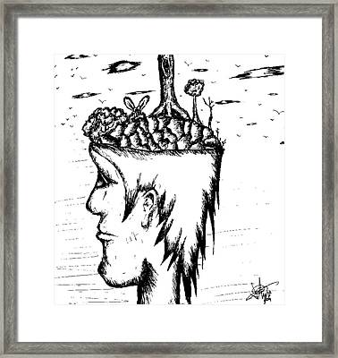 On My Mind Framed Print by Jera Sky