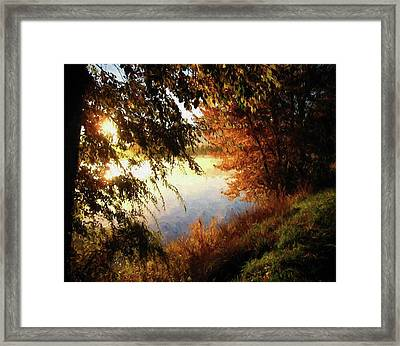 On My Way To Work Framed Print by Kathy Bassett