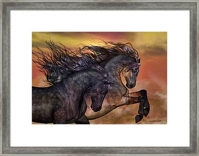 On Sugar Mountain Framed Print by Valerie Anne Kelly