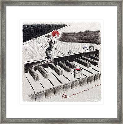 On That Note Framed Print by Barbara Chase