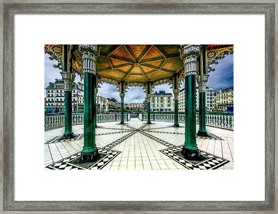 On The Bandstand Framed Print by Chris Lord