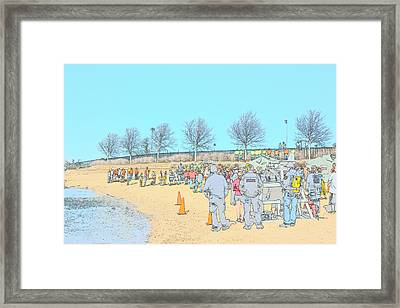 On The Beach Framed Print by Dan Brennan
