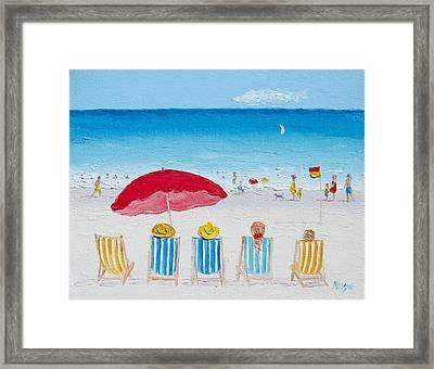 On The Beach Framed Print by Jan Matson