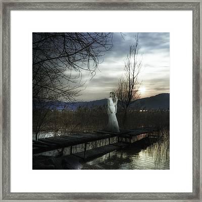 On The Bridge Framed Print by Joana Kruse