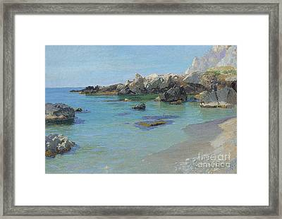 On The Capri Coast Framed Print by Paul von Spaun