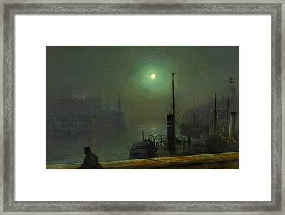 On The Clyde. Glasgow Framed Print by John Atkinson Grimshaw