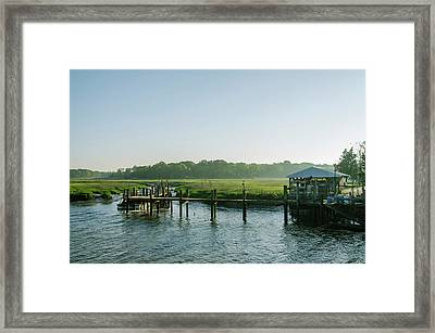 On The Docks Framed Print by Bill Cannon