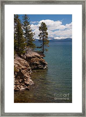 On The Edge Framed Print by Katie LaSalle-Lowery