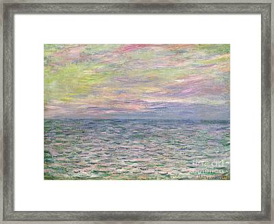 On The High Seas Framed Print by Claude Monet