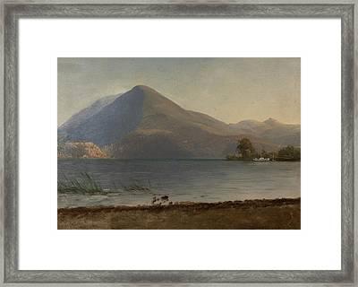 On The Hudson Framed Print by Albert Bierstadt