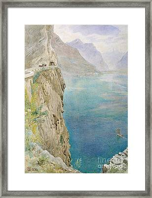 On The Italian Coast Framed Print by Harry Goodwin