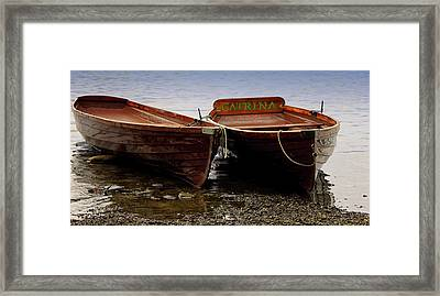 On The Lake Framed Print by Martin Newman