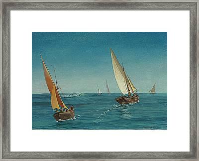 On The Mediterranean  Framed Print by Albert Bierstadt