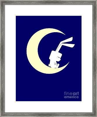 On The Moon Framed Print by Kourai