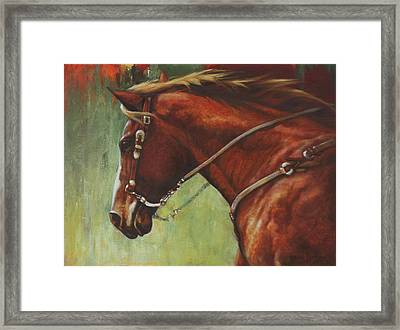 On The Move Framed Print by Harvie Brown
