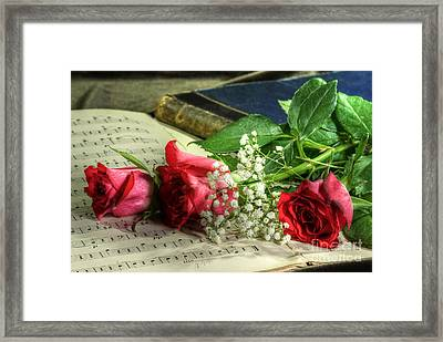 On The Music Framed Print by Sophie De Roumanie