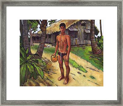 On The Old Beach Road Framed Print by Douglas Simonson