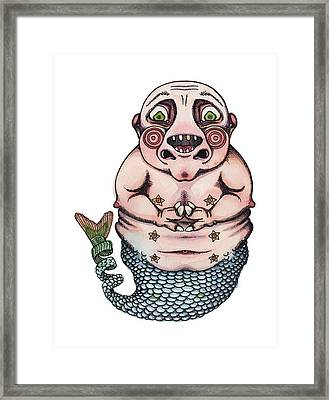 On The Pigs Back Framed Print by Kelly Jade King