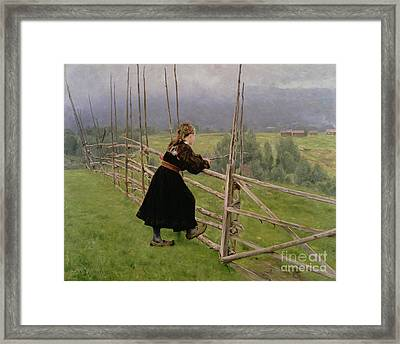 On The Plain Framed Print by Karl Fredrick Nordstrom