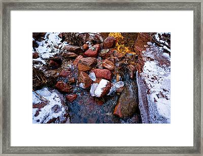 On The Rocks Framed Print by Christopher Holmes