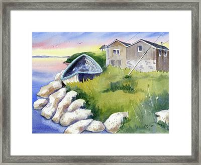 On The Rocks Framed Print by Marsha Elliott