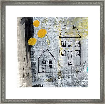 On The Same Street Framed Print by Linda Woods