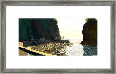 On The Seawall  Stanley Park Framed Print by Neil Woodward