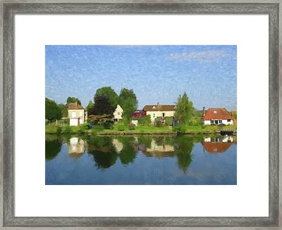 On The Seine Framed Print by Gary Grayson