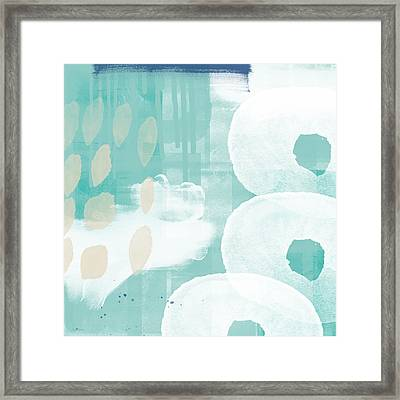On The Shore- Abstract Painting Framed Print by Linda Woods