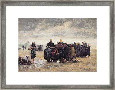 On The Shore Framed Print by Jacques Eugene Feyen