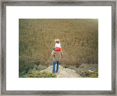 On The Shoulders Of Giants Framed Print by Richard Brookes