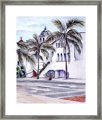 On The Streets Of Santa Barbara Framed Print by Danuta Bennett