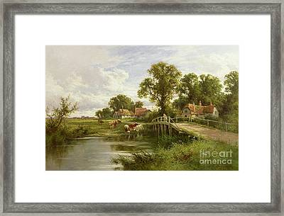 On The Thames Near Marlow Framed Print by Henry Parker