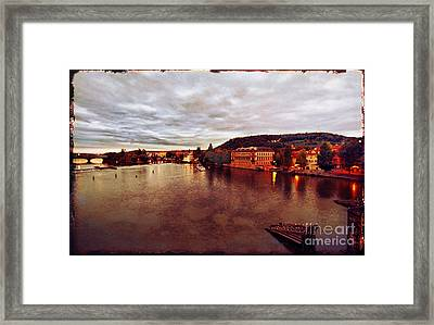 On The Vltava River Framed Print by Madeline Ellis