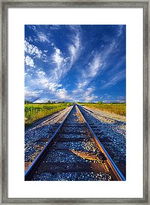 On The Way Framed Print by Phil Koch