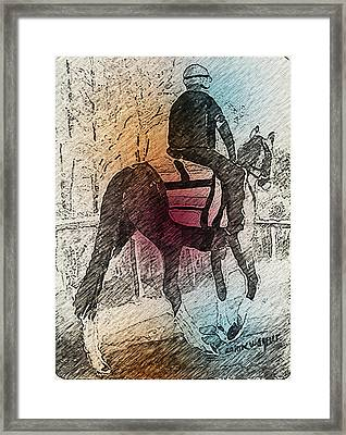 On The Way To The Workout Framed Print by Arline Wagner