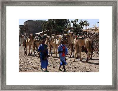 On Their Way To School Framed Print by Aidan Moran