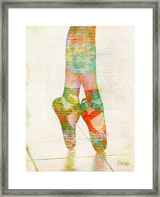 On Tippie Toes Framed Print by Nikki Smith