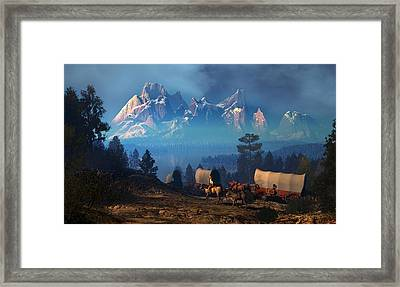 Once But Long Ago Framed Print by Dieter Carlton