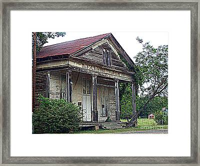 Once Upon A Store Framed Print by Kathy  White