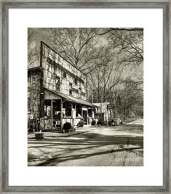 Once Upon A Story # 2 Sepia Tone Framed Print by Mel Steinhauer
